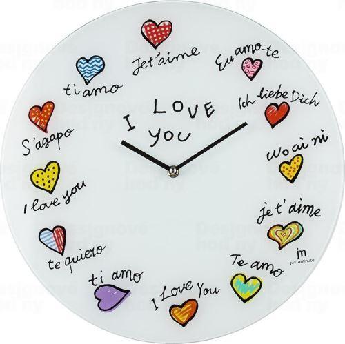 Dizajnové nástenné hodiny 14871 Lowell 38cm