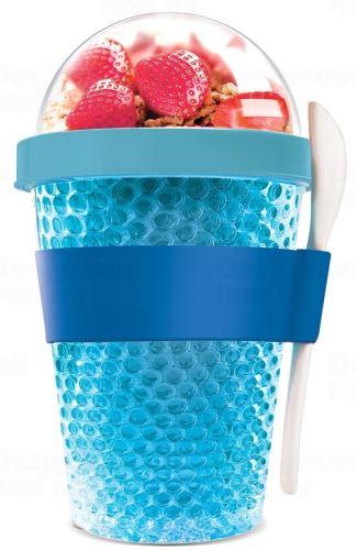 ASOBO multifunkčné chladiaca desiatový kelímok CY2GO modrý 386ml