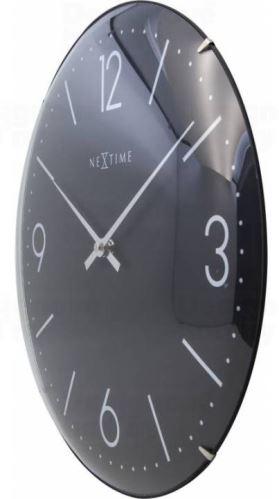 Dizajnové nástenné hodiny 3157zw Nextime Basic Dome 35cm