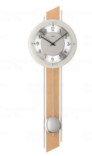 Kyvadlové nástenné hodiny 5234/18 AMS riadené rádiovým signálom 72cm