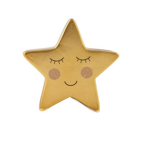 Pokladnička SWEET DREAMS STAR Sass & Belle, dolomit - zlatá