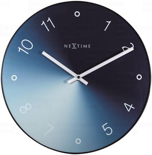 Dizajnové nástenné hodiny 8194bl Nextime Gradient 40cm