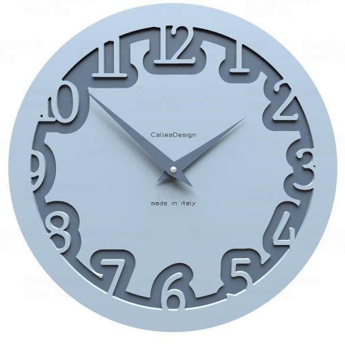 Dizajnové hodiny 10-002 CalleaDesign Labirinto 30cm (viac farebných verzií) Farba svetlo modrá klasik - 74