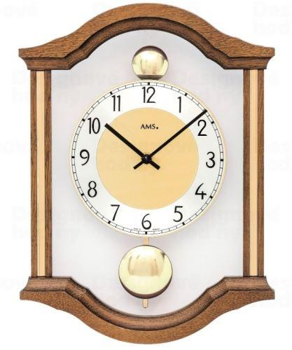 Kyvadlové nástenné hodiny 7447/4 AMS 34cm