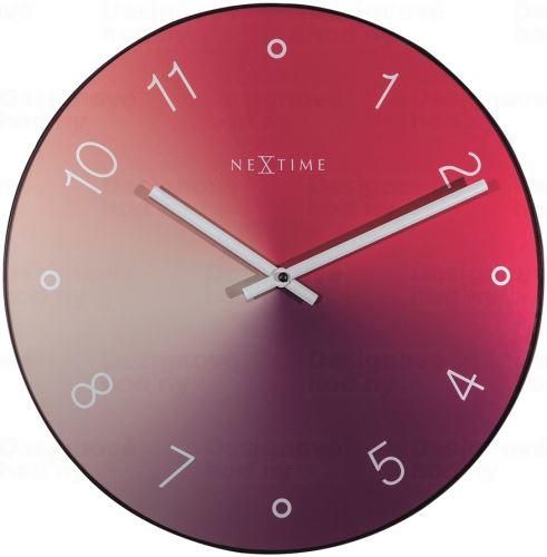 Dizajnové nástenné hodiny 8194ro Nextime Gradient 40cm