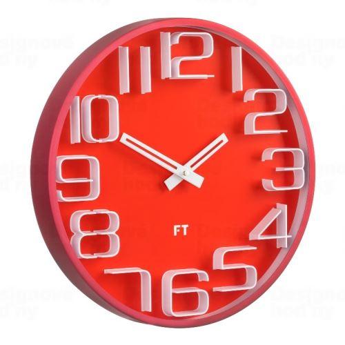 Dizajnové nástenné hodiny Future Time FT8010RD Numbers 30cm