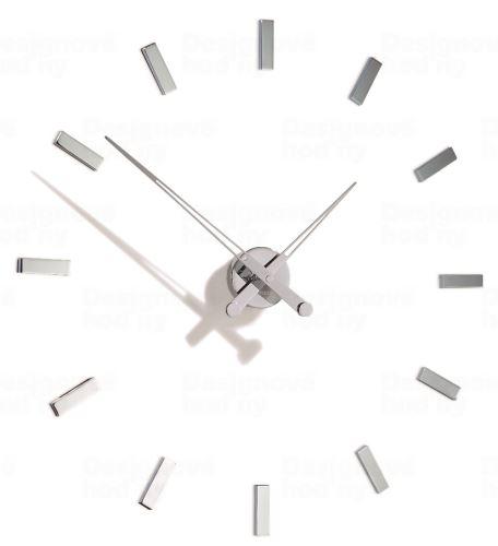 Dizajnové nástenné hodiny Nomon Taçon 12i 73cm Nomon verzia strieborný chróm Inox