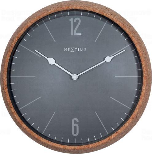 Dizajnové nástenné hodiny 3509gs Nextime Cork 30cm