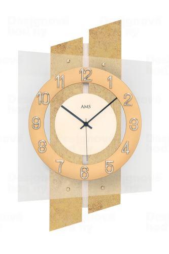 Dizajnové nástenné hodiny 5533 AMS riadené rádiovým signálom 46cm
