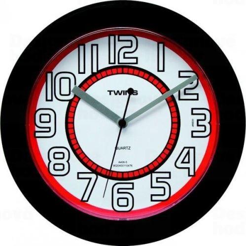 Nástenné hodiny Twins 406 black 23cm