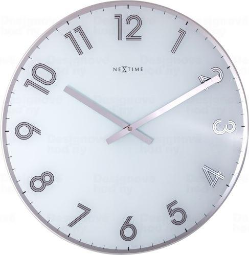 Dizajnové nástenné hodiny 8190wi Nextime Reflect 43cm
