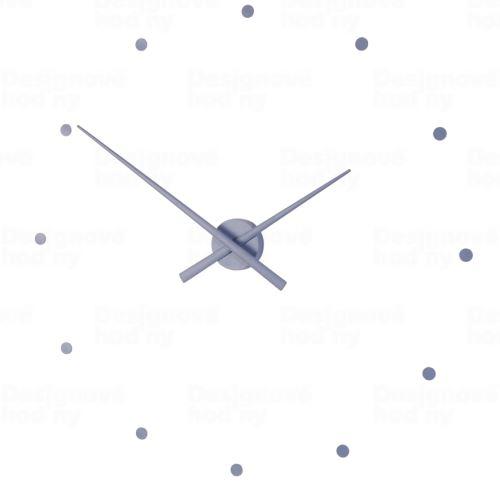 Dizajnové nástenné hodiny Nomon OJ oceľovo modré 80cm