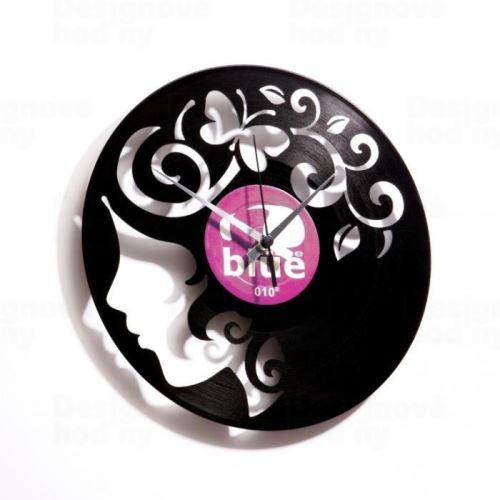 Dizajnové nástenné hodiny Discoclock 008 Curly thoughts 30cm