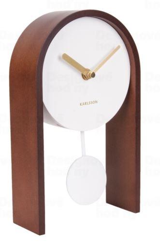 Dizajnové kyvadlové stolné hodiny 5705DW Karlsson 25cm