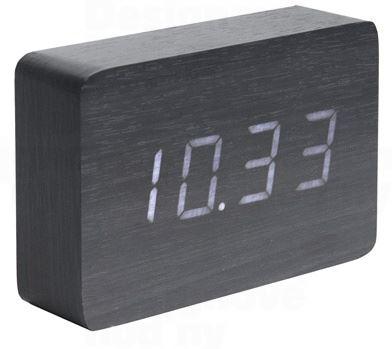 Dizajnový LED budík - hodiny 5653BK Karlsson 15cm
