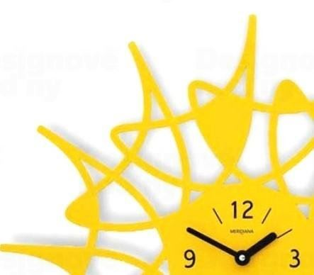 Dizajnové hodiny D & D 305 Meridiana 51cm Meridiana farby kov čierny lak