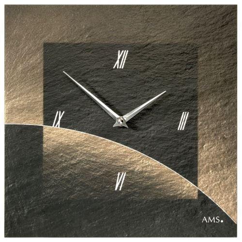 Dizajnové nástenné bridlicové hodiny 9519 AMS 30cm