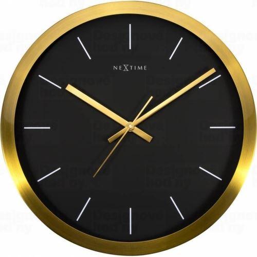Dizajnové nástenné hodiny 2524gb Nextime Stripe Golgi Black 45cm