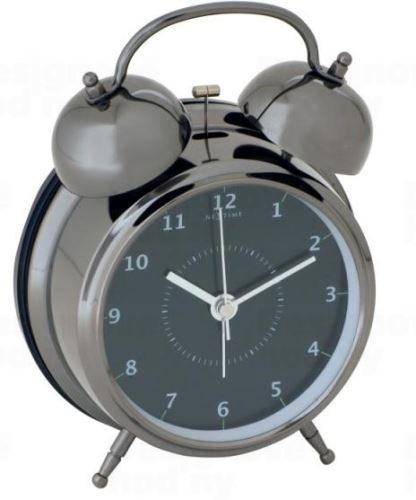 Dizajnový budík 5112zw Nextime Wake Up 21cm