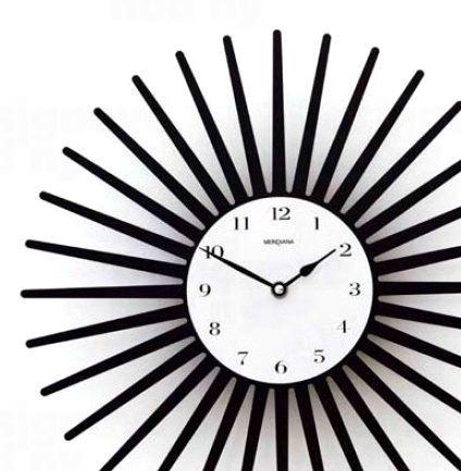 Dizajnové hodiny D & D 369 Meridiana 36cm Meridiana farby kov čierny lak
