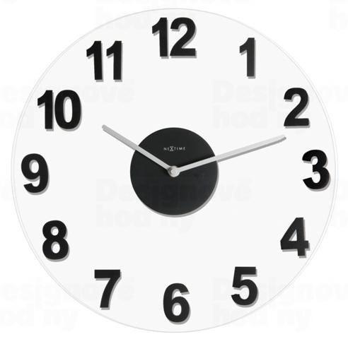 Dizajnové nástenné hodiny 2974zw Nextime WOODY BLACK 39cm