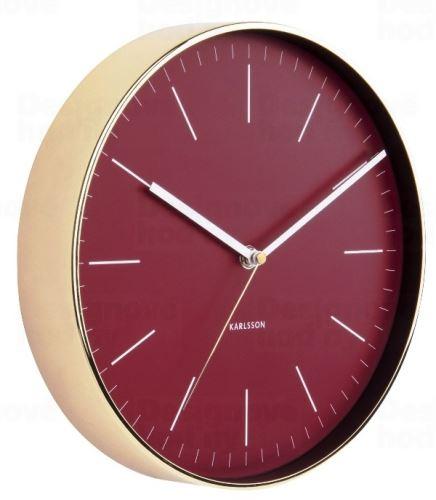 Dizajnové nástenné hodiny 5695RD Karlsson 28cm
