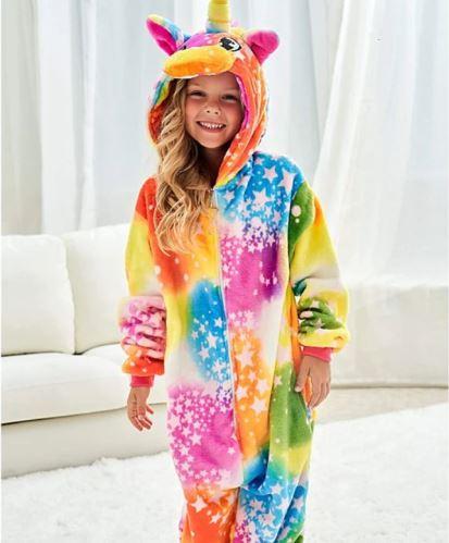 Dětský overal s motivem jednorožce Unicorn, duhové barvy