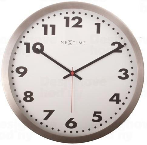 Dizajnové nástenné hodiny 2521 Nextime Arabic White 34cm