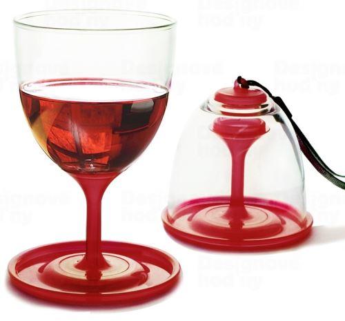 ASOBO piknikové skladacie poháre na víno - set 2ks