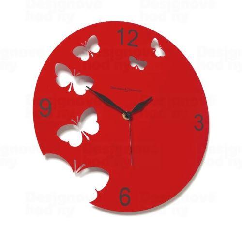 Dizajnové hodiny D & D 201 Meridiana 30cm (viac farebných verzií) Meridiana farby kov oranžový lak