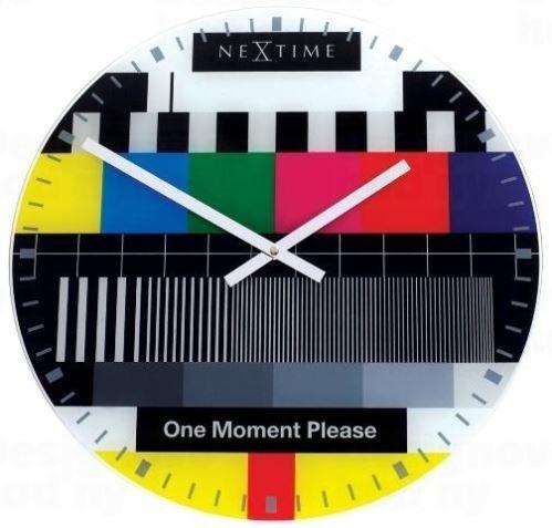 Dizajnové nástenné hodiny 8607en Nextime TESTPAGE 43cm