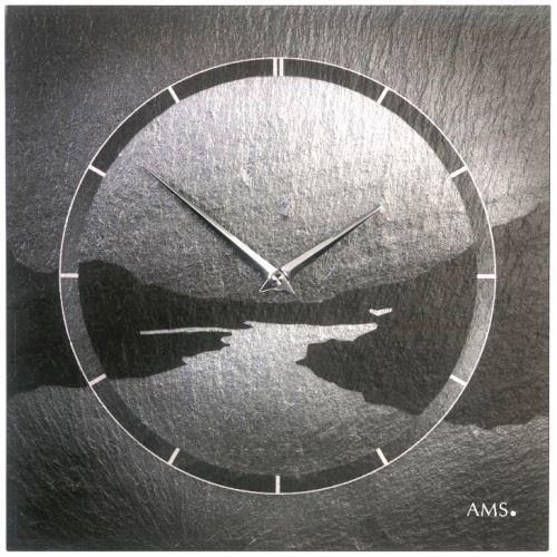 Dizajnové nástenné bridlicové hodiny 9512 AMS 30cm