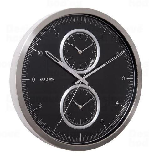 Dizajnové nástenné hodiny KA5508BK Karlssson 50cm