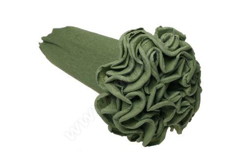 Krepový kornút 25cm x 2,5m 562-hráškovo zelená