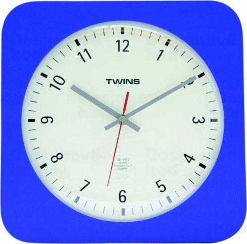 Nástenné hodiny Twins 5078 blue 30cm