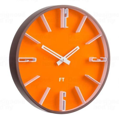 Dizajnové nástenné hodiny Future Time FT6010OR Numbers 30cm