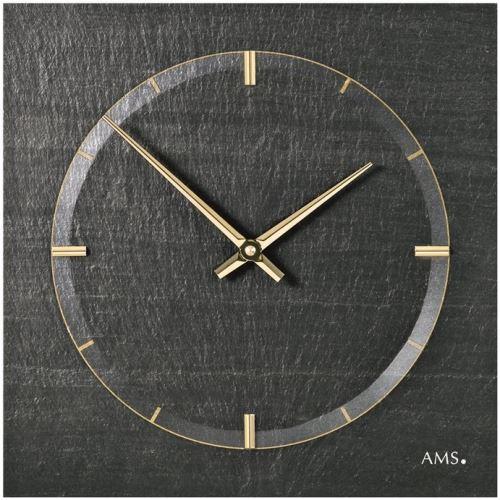 Dizajnové nástenné bridlicové hodiny 9516 AMS 30cm