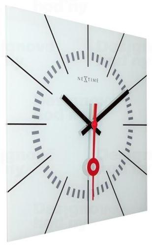 Dizajnové nástenné hodiny 8636wi Nextime Stazione 35cm