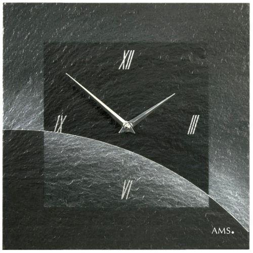 Dizajnové nástenné bridlicové hodiny 9518 AMS 30cm