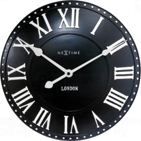 Dizajnové nástenné hodiny 3083zw Nextime v aglickém retro štýle 35cm