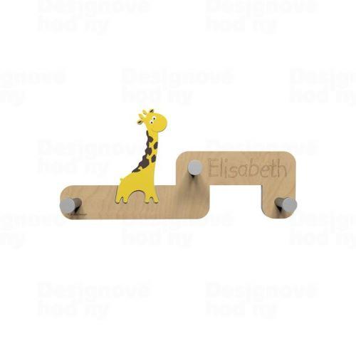 Detský dizajnový nástenný vešiak CalleaDesign žirafa 55cm