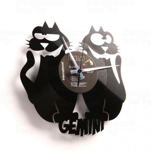 Dizajnové nástenné hodiny Discoclock Z03 Blíženci 30cm