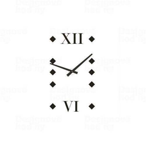 Dizajnové nástenné hodiny 1577 Calleadesign 140cm (20 farieb) Farba tmavo hnedá