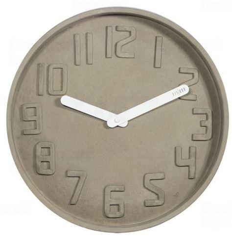 Dizajnové nástenné kameninové hodiny CL0127 fisúry 35cm