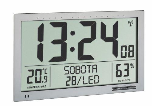 Nástenné DCF hodiny TFA 60.4517.54 s teplomerom a vlhkomerom - veľkosť XL
