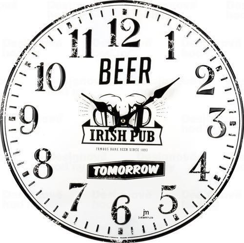 Dizajnové nástenné hodiny 21510 Lowell 40cm