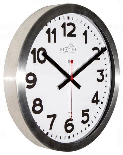 Dizajnové nástenné hodiny riadené signálom DCF 3999arrc Nextime Station Number 35cm