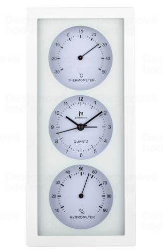 Nástenné-stolové hodiny s teplomerom a vlhkomerom JA7071B Lowell 26cm