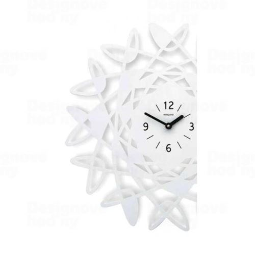 Dizajnové nástenné hodiny 303 Meridiana 50cm Meridiana farby kov strieborný lak