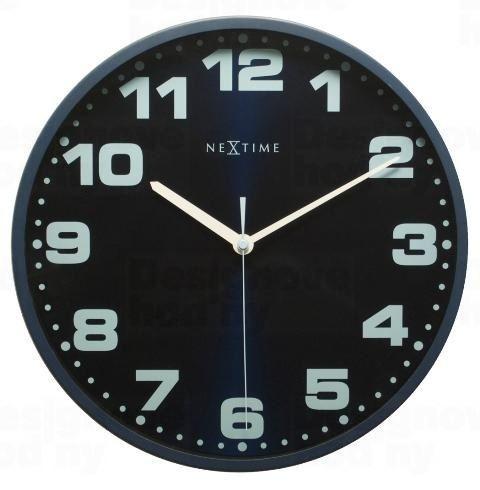 Dizajnové nástenné hodiny 3053bl Nextime Dash Blue 35cm
